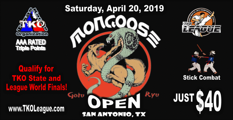 Mongoose Open Karate Championship on TournamentTiger - Tournament software by martial artists for martial artists.